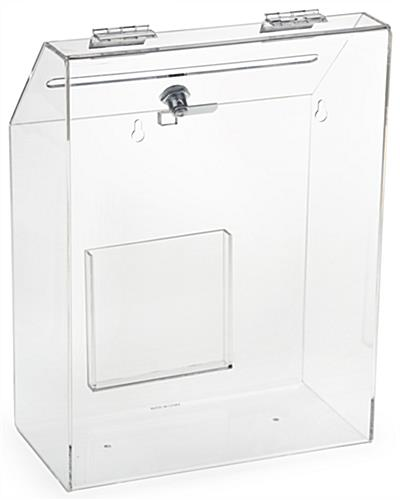 Clear Suggestion Box with 1 Pocket - Transparent Finish