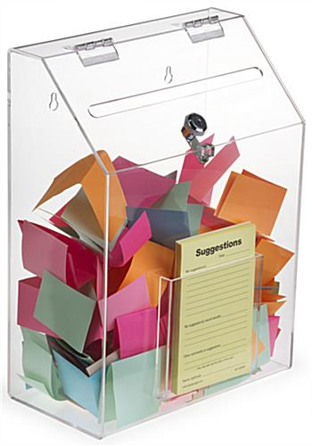 Clear Suggestion Box with 1 Pocket - Lightweight