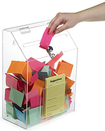 Clear Suggestion Box with 1 Pocket