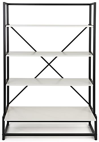 43 inch wide folding multi-tier retail shelving