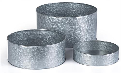 Round galvanized risers with versatile end use