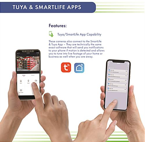 Rotating smart security camera with Tuya Smart and Smart Life app compatibility