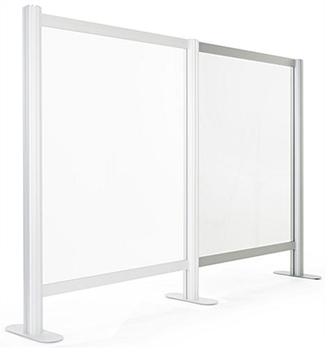 Countertop acrylic separation screen add-on for SMSAL47 with sturdy aluminum frame