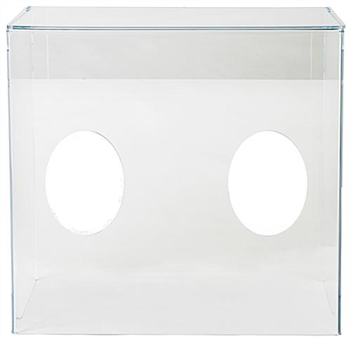 4-sided acrylic aerosol intubation box with armholes