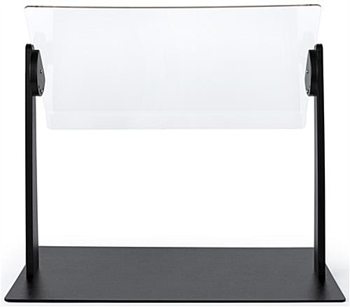 Adjustable countertop sneeze guard with 28 x 20 display space