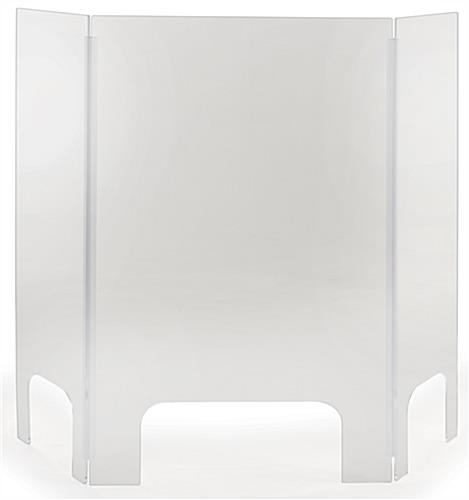 Acrylic countertop cashier shield with hinges
