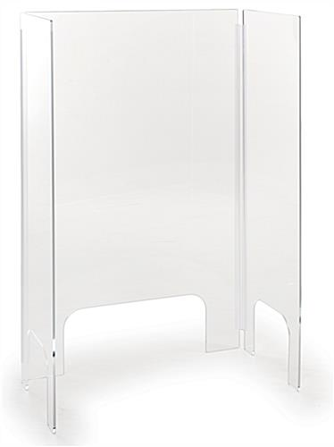 Acrylic countertop cashier shield with adjustable panels