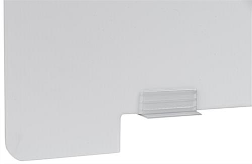 Splash guard divider panel with two inch bottom lip