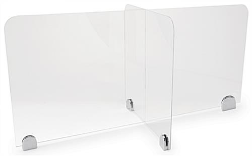 "Sneeze shield table divider with 44""L x 22""W x 20"" H"