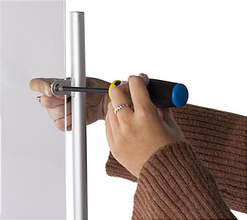 Countertop adjustable hygiene barrier with easy assembly