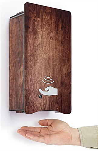 Decorative hand sanitizer dispenser with hands-free dispensing