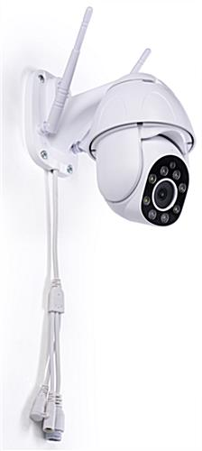 Rotating smart security camera with 26 foot to 32 foot infrared distance