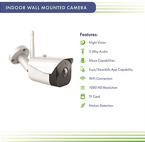 Wall-mounted security system with night vision