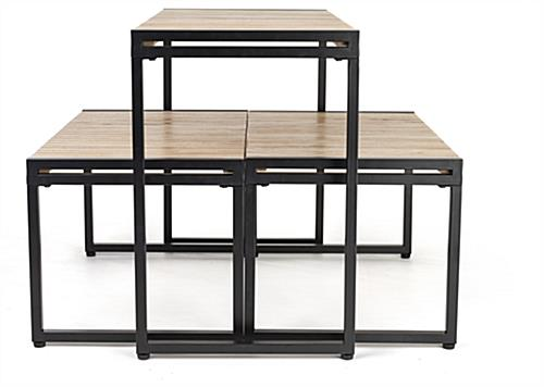 Large nesting tables with table height of 30 inches
