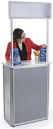Lightweight Promotional Counter, Weighs 40 lbs