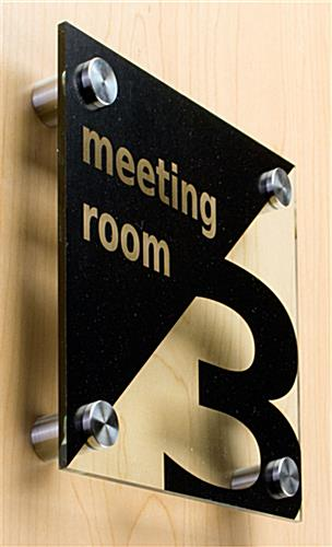 Standoffs: For Wall Mounted Signage