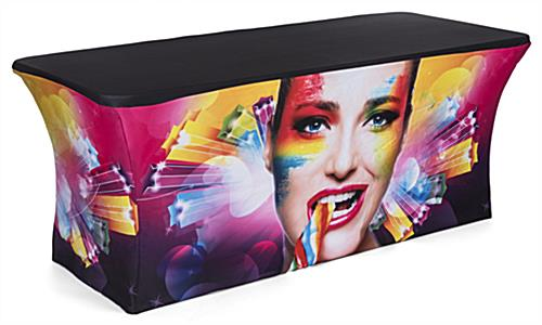 6' Custom stretch LED table scrim replacement cover in full color print