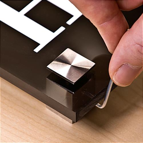 Square Sign Standoffs Enhance Signage Panels