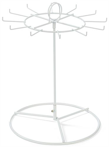 White Countertop Spinner Display, Circular Base