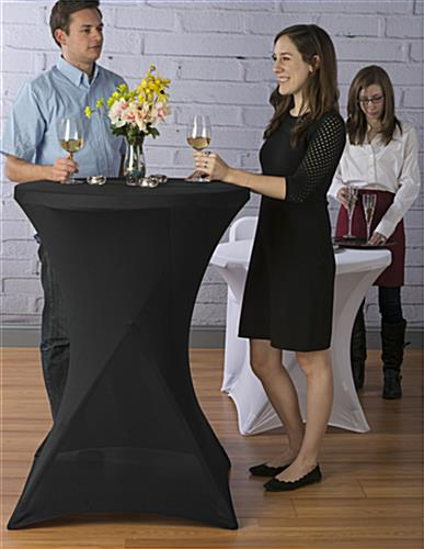 Black Cocktail Table Cover for Drinks & Appetizers