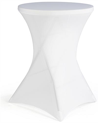 White Cocktail Table Cover for Weddings & Events