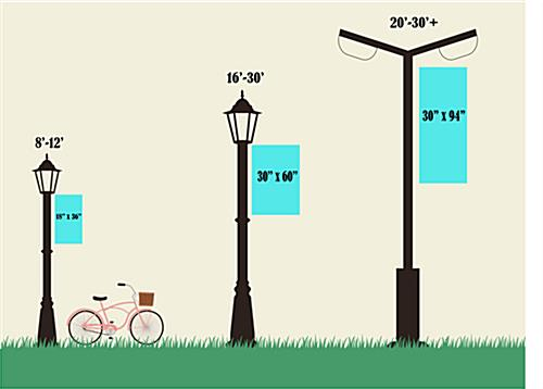 Summer Light Post Flag with Size Options for Various Pole Sizes