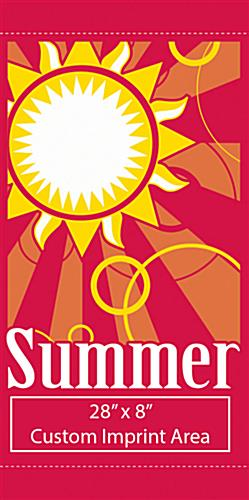 Summer Outdoor Light Pole Banner with Sun Graphic