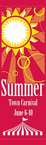 Summer Pole Flag Banner with Personalized Imprint Area