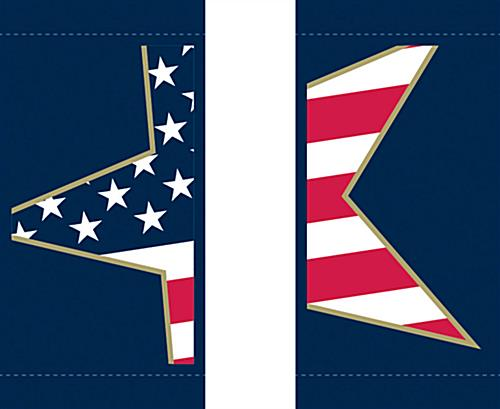 Stars & Stripes Hanging Street Pole Banners with Sewn-In Rod Pockets