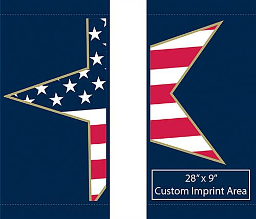 Patriotic Street Light Decoration Banners with Personalized Message Option