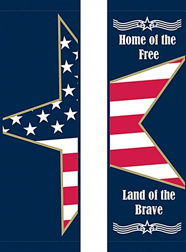 Stars & Stripes Street Pole Banner Flag Banner Set with 2 Customizable Graphic Areas