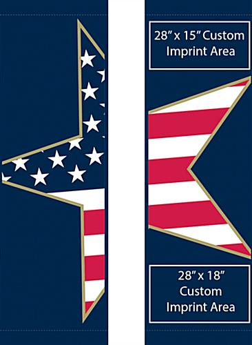 Stars & Stripes Street Pole Banner Flag Banner Set with Pre-Printed American Graphic