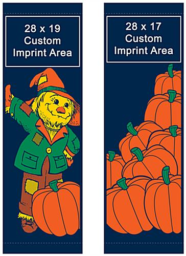 "30"" x 94"" Fall Themed Double Sided Street Pole Sign Banner Set"