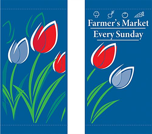 "Spring Lamp Post Banner with 28"" x 13"" Imprint Area"