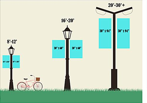 Spring Lamp Post Banner with 3 Height Options