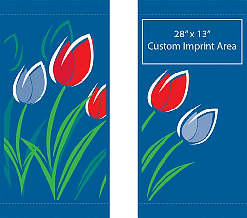Spring Lamp Post Banner with Custom White Graphics