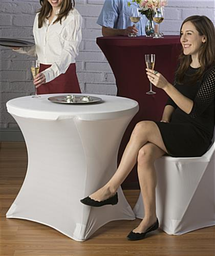 Stretch Café Table Cover for Cocktail Hour