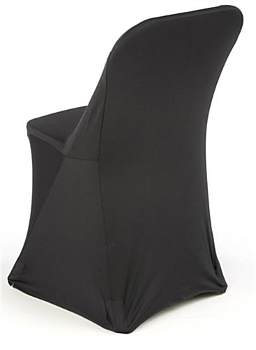 Black Stretch Chair Cover with Pockets for Seat Legs