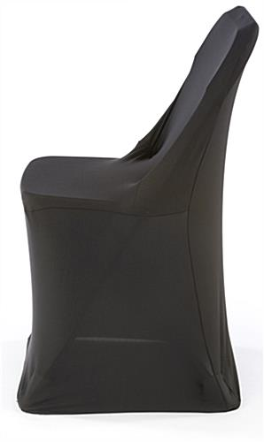 Black Stretch Chair Cover Expands to Fit Most Folding Seats