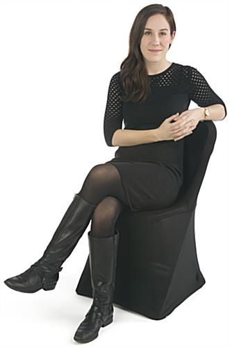 Black Stretch Chair Cover For Banquets or Weddings