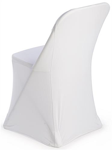 White Stretch Chair Cover Attaches to Seat Legs