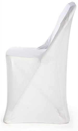 ... White Stretch Chair Cover Made Of Spandex Polyester Fabric ...