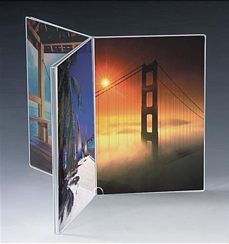 Acrylic Table Tent Showcases 5 x 7 Photos