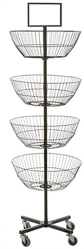 Rotating 4 Tier Basket Stand