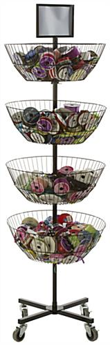Freestanding 4 Tier Basket Stand