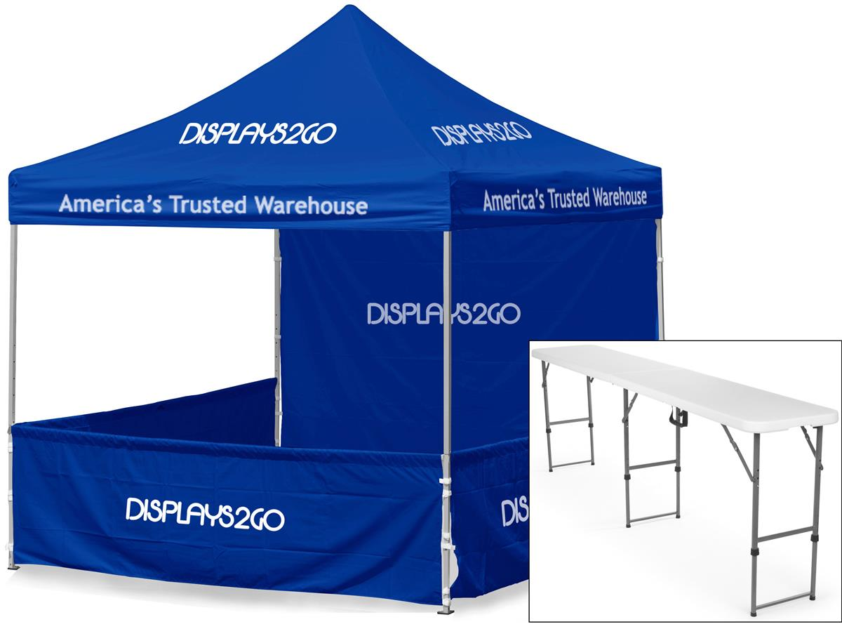 10 X 10 Outdoor Event Tent With Custom Printing 2 Tables