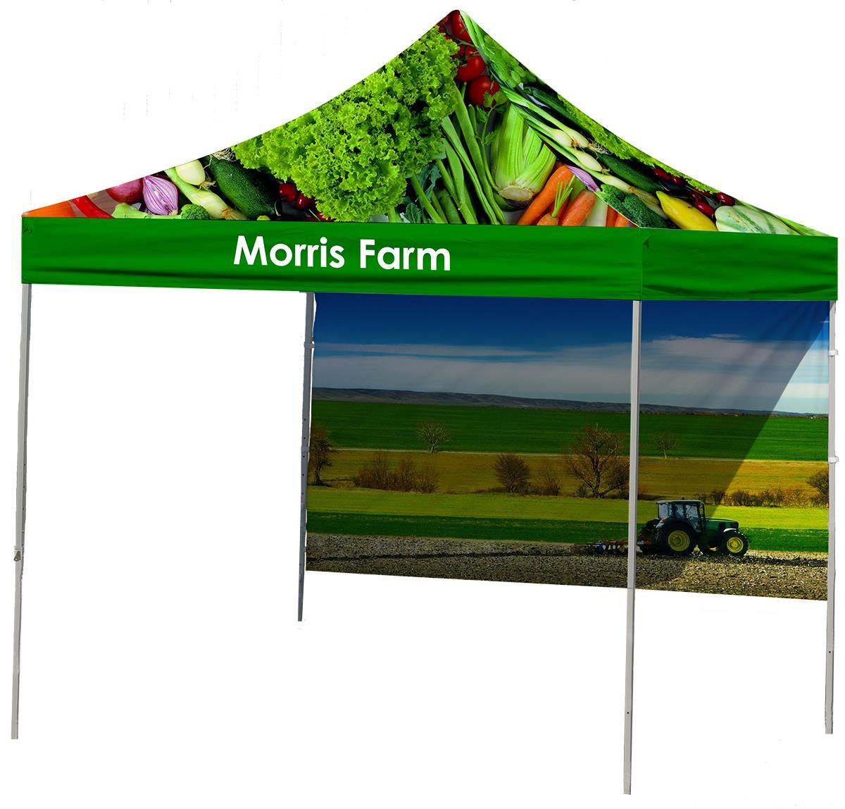 Custom Printed Canopy 10x10 W Top Amp Backwall Printing