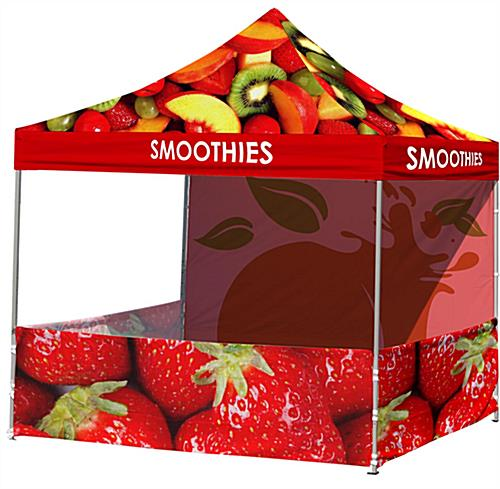 Custom Event Tent ...  sc 1 st  Displays2go & Custom Event Tent | Corporate 10x10 Canopy w/ 3 Walls Printing