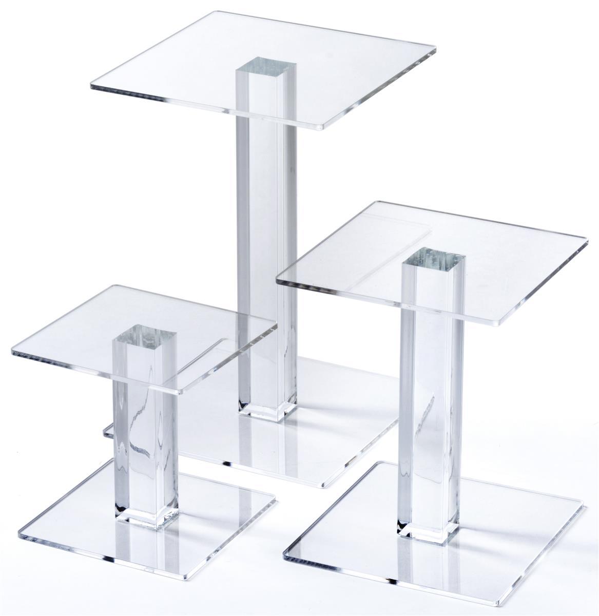 Acrylic Square Riser Set Set Of 3