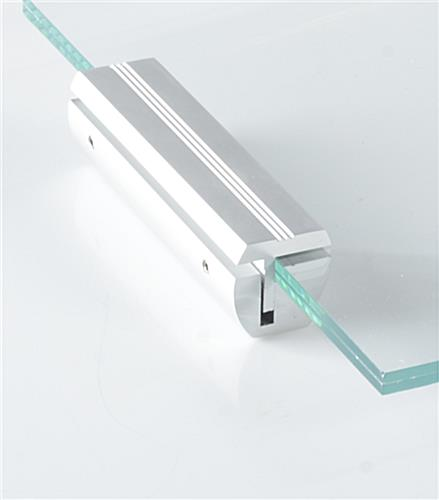 Silver Sign Mounts 4 Quot Edge Grip Sign Rail For Wall Mounting